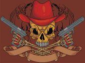 Illustration skull design — Stock Vector
