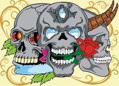 Abbildung Skull design — Stockvektor