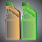 Illustration bottle oil — Stock Vector