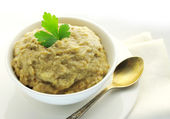 Aubergine paste in a bowl — Stock Photo