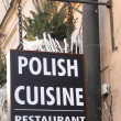 Постер, плакат: Sign on the wall at the restaurant of Polish cuisine in the cent