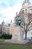Monument to Czech writer Alois Jirasek in Prague, Czech republic — Stock Photo