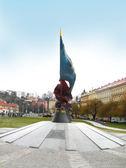 Memoriale di guerra in klarov square, praga, repubblica ceca — Foto Stock