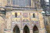 Frescoes on St. Vitus Cathedral in Prague, Czech republic — Stock Photo