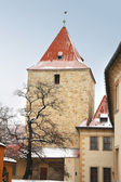 Tower in the center of old Prague, Czech republic — Stockfoto