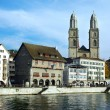 View on Zurich downtown across Limmat river, Switzerland — Stock Photo #20427473