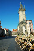 Old Astronomical Clock Tower in Prague, Czech Republic — Стоковое фото