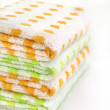 Royalty-Free Stock Photo: Stack of colored towels