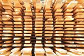 Stacked lumber background — Stock Photo