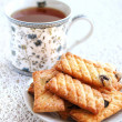 Crispy sugared cookies with raisins — Foto Stock