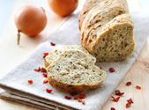 Bread with onion, paprika, cumin and dill — Stock Photo