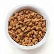 Royalty-Free Stock Photo: Dry cat food in a ceramic bowl