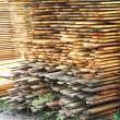 Foto Stock: Stacked lumber