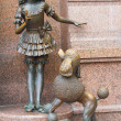 Stock Photo: KIEV, UKRAINE - JULY 20: Malvina and dog Artemon. Bronze statues