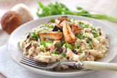 Risotto with white mushrooms — Stock Photo