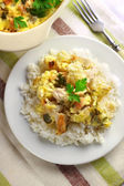 Chicken breast and cauliflower casserole with rice — Stock Photo