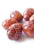 Pysanky - Ukrainian handmade painted Easter eggs — Stock Photo