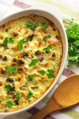 Chicken breast and cauliflower casserole — Stock Photo