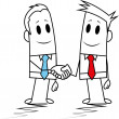 Royalty-Free Stock Vector Image: Square guy-shake hands
