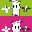Royalty-Free Stock Vector Image: Square guy-angel and devil