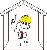 方形的家伙-建设 — 图库矢量图片