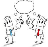 Square guy-similar idea — Stock Vector