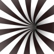 Black and white spiral tunnel. Vector - Stock Vector