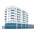 Stockfoto: Office building 3d illustration