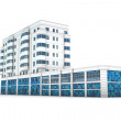 Office building 3d illustration - Stock Photo