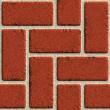 wektor bezszwowe murem z czerwonej cegły — Wektor stockowy
