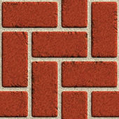 Vector seamless brick wall made of red bricks — Stock Vector