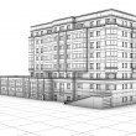 Modern cartoon buildings. Set #6 — Stock Photo #16940067