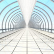 Stock Photo: Endless vanishing walkway