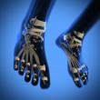 Human radiography scan of legs — Stock Photo