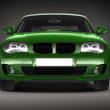 Green Sports car.  3d render — Stock Photo