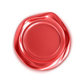 Red wax seal isolated on white — Stock Photo