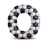Letter with soccer relief texture — Stock Photo