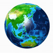Earth Asia View - Stock Photo