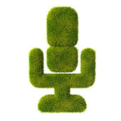 Grass microphone icon — Stock fotografie