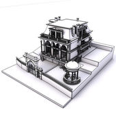 Klasyczny budynek szkieletowy — Zdjęcie stockowe