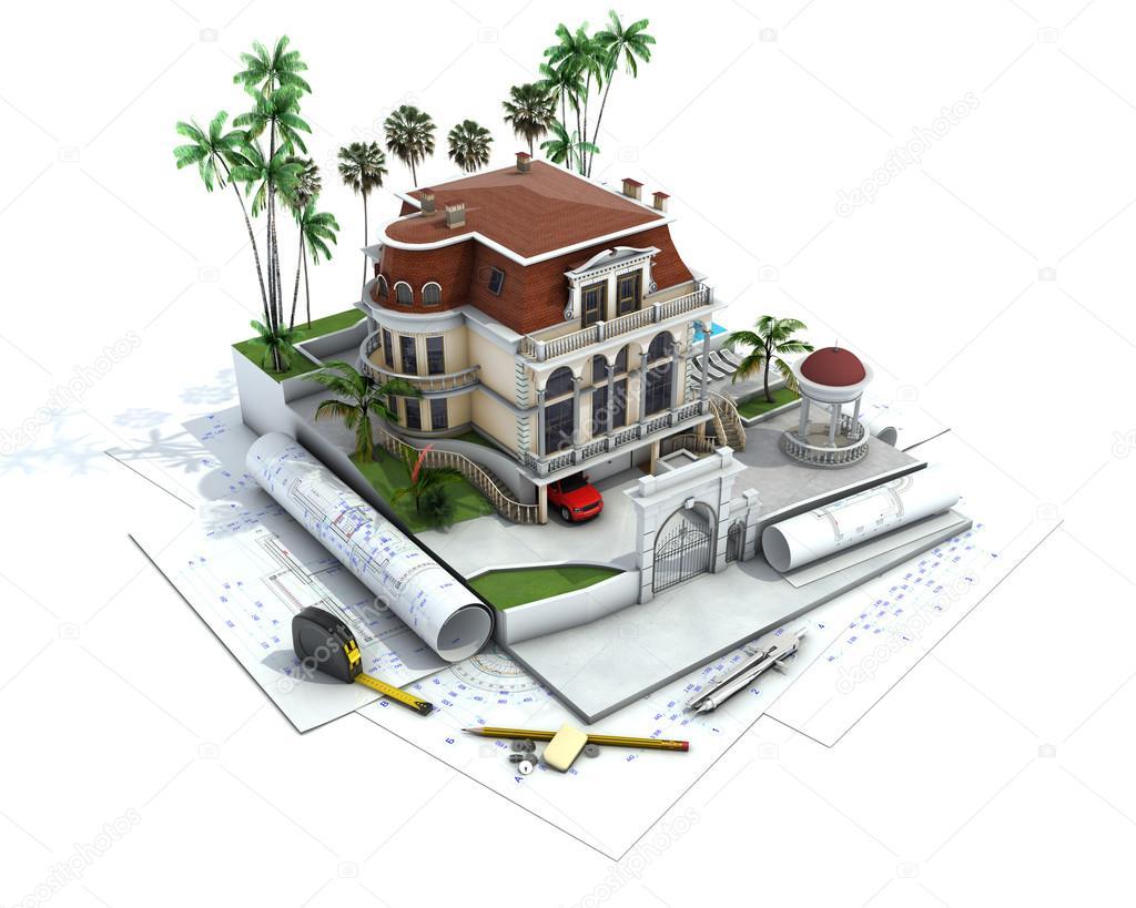 Visualisation l 39 architecture de dessin et cours de for Dessin architecture maison