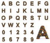 Fire lava alphabet — Stock Photo