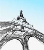 векторная иллюстрация эйфелевой башни — Cтоковый вектор