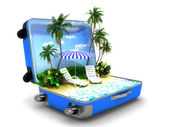 Package beach vacation — Stock Photo