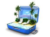 Balíček pláž dovolená — Stock fotografie
