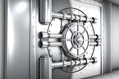 Illustration of bank vault door, front view — Stock Photo