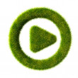 Royalty-Free Stock Photo: Grass play icon