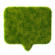 Royalty-Free Stock Photo: 3d green grass bubble talk on white background
