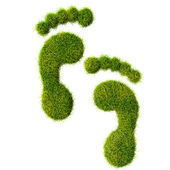 Ecological footprint concept illustration — Stockfoto