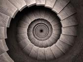 Spiral stair dungeon stil. — Stockfoto
